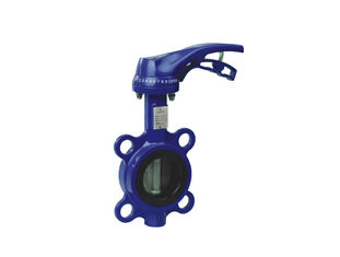 Industrial  Globe Wafer Type Butterfly Valve , Electric Actuated Butterfly Valve  With Handle