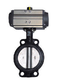 China Spring Return Actuator Pneumatic Butterfly Valve , Pneumatic Control Butterfly Valve supplier