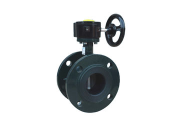 China High Performance Flanged Butterfly Valve ,Flanged End Butterfly Valve Blue supplier