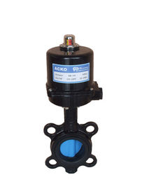 Wafer Style Electrically Operated Butterfly Valve DN65 DN80 Black High Torque