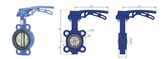 Lugged  Wafer  Type Butterfly Valve With Handle , Electrically Operated Butterfly Valve