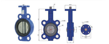 Headless  Wafer Type Butterfly Valve  Soft Back Seat Suopport  Reasonable  Unique Structure