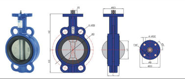 high temperature Stainless Steel  Wafer Type Headless Butterfly Valve With Back Seat