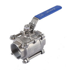 Three Piece Plumbing Ball Valve , Stainless Steel 316L  Water Supply Ball Valve
