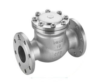 China Industrial Flange Metal Check Valve Water Supply ,  Adjustable Stainless Steel Swing Check Valve supplier