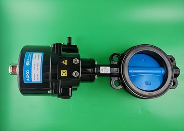 Solenoid Electric Butterfly Valve Wafer Type Air Flow Control 220Vac 50 60 Hz