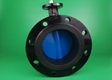 Worm Gear Operated  3 Inch  Flanged Butterfly Valve Size Customized Industrial