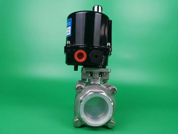 China OEM Electric Actuated Ball Valve , Small Motor Operated Ball Valve supplier