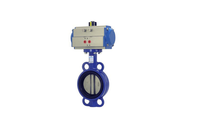 Spring Return Actuator Pneumatic Butterfly Valve , Pneumatic Control Butterfly Valve