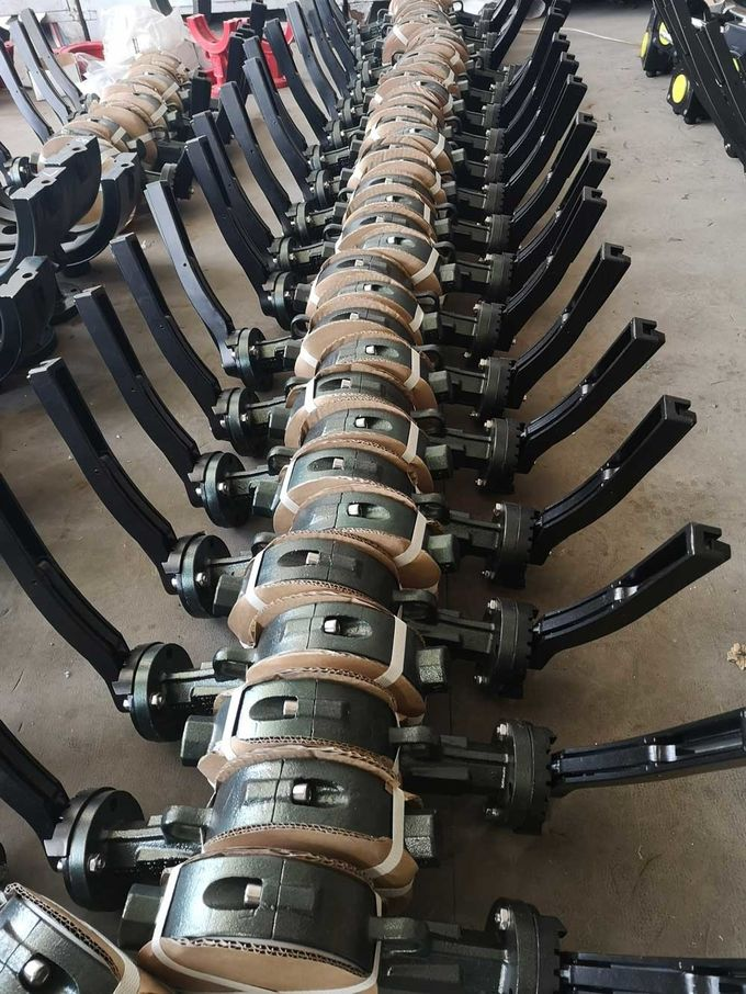 Wafer Type Motorized  PTFE Lined Butterfly Valve , Electrically Operated Butterfly Valve